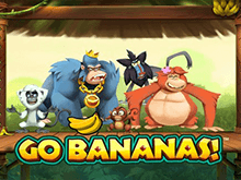Веселые персонажи, современная HD графика и высокие коэффициенты — основные преимущества игры Go Bananas!